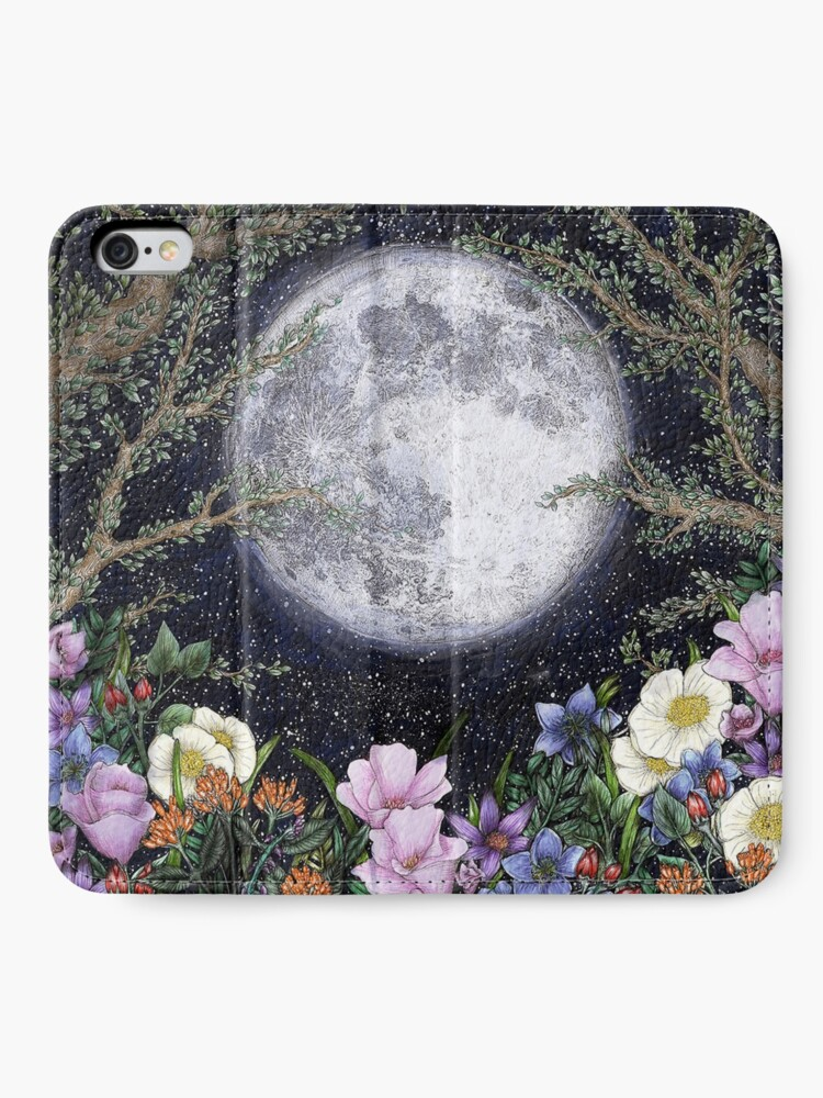 Alternate view of Midnight in the Garden II iPhone Wallet