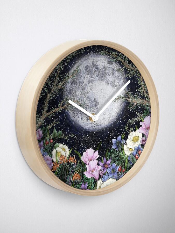 Alternate view of Midnight in the Garden II Clock