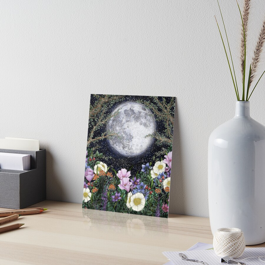 Midnight in the Garden II Art Board Print