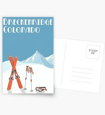 Vintage Breckenridge Colorado Poster Postcards