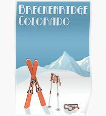 Weinlese Breckenridge Colorado Plakat Poster