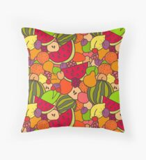 Juicy Fruits Throw Pillow