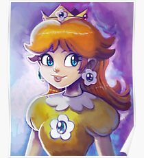 Princess Daisy Portrait Painting Poster