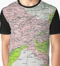 Map of Punjab, circa 1909 Graphic T-Shirt