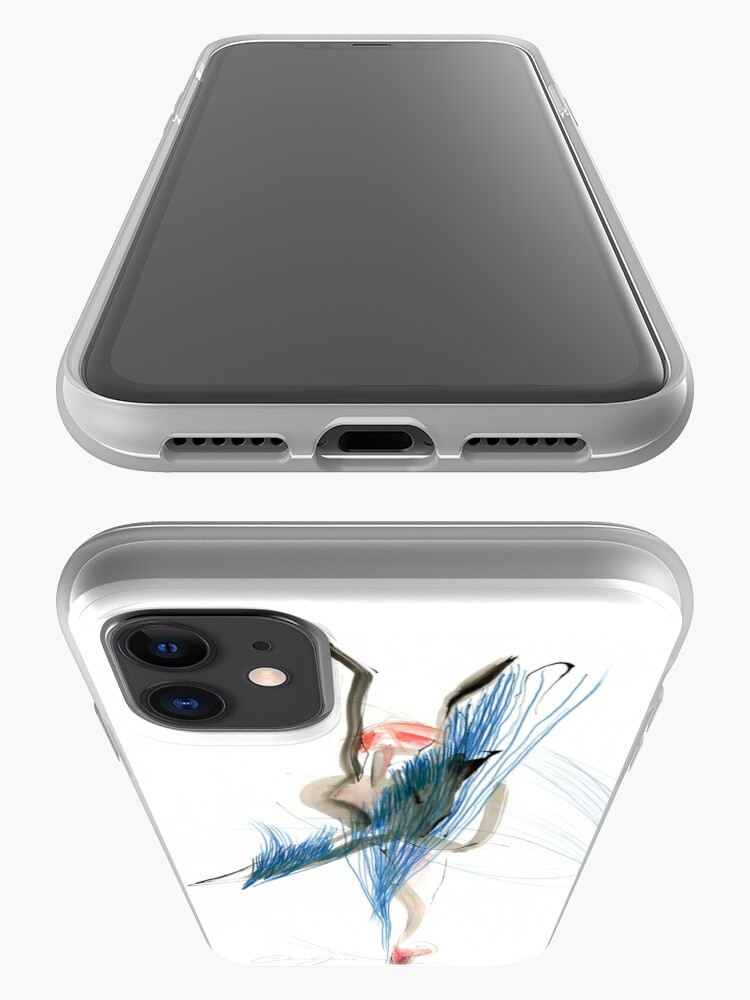Alternate view of Expressive Dance Drawing iPhone Case & Cover