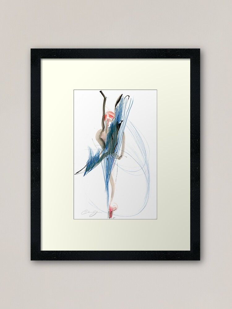 Alternate view of Expressive Dance Drawing Framed Art Print