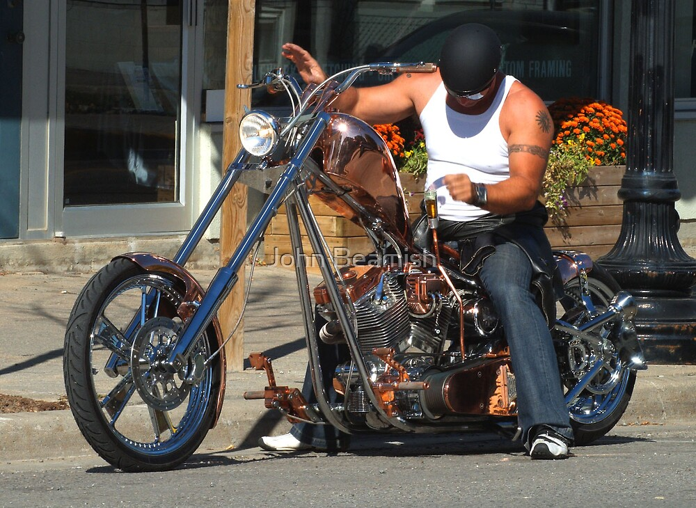 Copper Chopper (with a beer chacer) by John Beamish