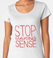 Camiseta premium para mujer Deja de hablar sentido