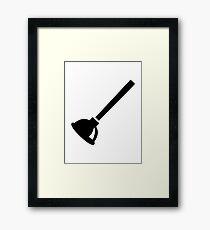 Plunger plumber Framed Print
