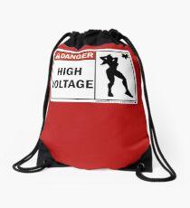 high voltage laura Drawstring Bag