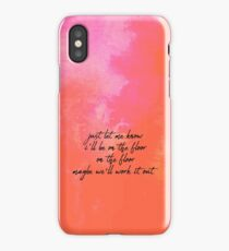 meet me in the hallway  iPhone Case/Skin