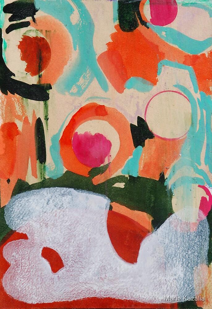 bubble-up orange tokyo sky by Marie Kazalia
