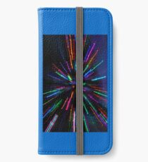 blue crazy christmas lights iPhone Wallet/Case/Skin