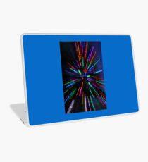 blue crazy christmas lights Laptop Skin