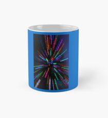 blue crazy christmas lights Mug