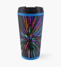 blue crazy christmas lights Travel Mug