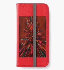 red crazy christmas lights iPhone Wallet/Case/Skin