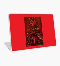 red crazy christmas lights Laptop Skin