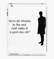 Doctor Who 11th Doctor Quote  iPad Case/Skin