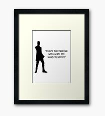 Doctor Who 12th Doctor Quote Framed Print