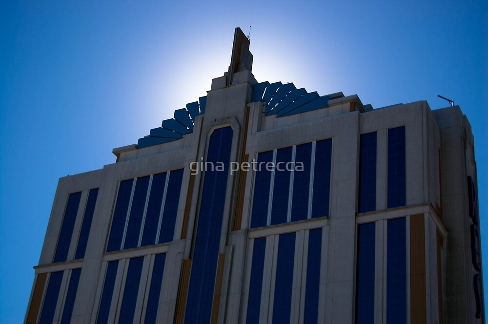 blue sky and building by gina petrecca