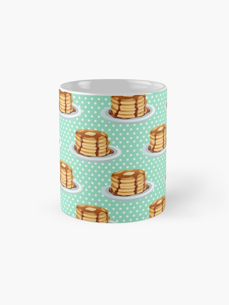 Alternate view of Pancakes with Maple Syrup Pattern Mug