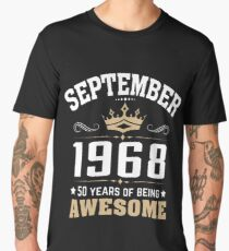 September 1968 50 years of being awesome Men's Premium T-Shirt