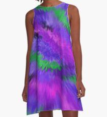 Purple Waves, Purple Waves A-Line Dress