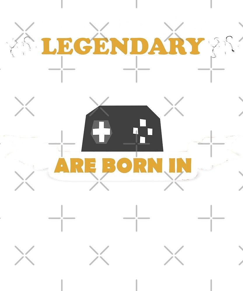 Legendary Gamers Are Born In March Birthday Gift T-Shirt by joeTakeover