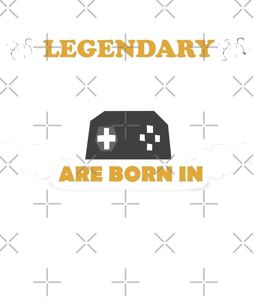 Video Gamer Boys Kids Men Legendary Gamers Are Born In June Video Game T-Shirt by joeTakeover