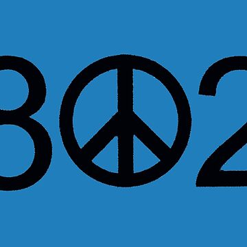 Vermont 802 Peace Sign by alittlebluesky