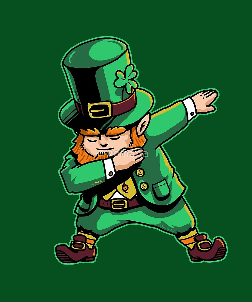 Dabechaun Dabbing Leprechaun St Patrick Day Shirt March 17th by vomaria