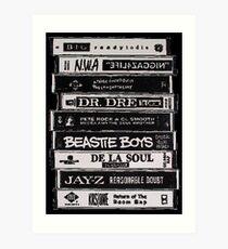 Hip Hop-Bänder Kunstdruck
