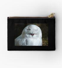 Smiling Snow Owl Studio Pouch