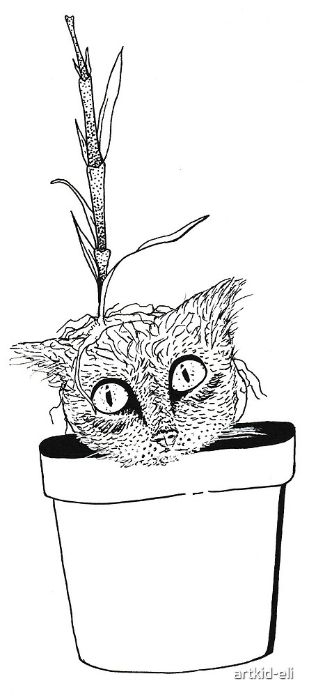 Potted Cat by Elijah Church