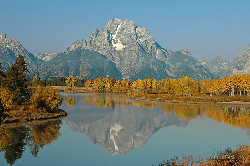 Mt Moran, Oxbow on a Clear Day by Albert Dickson