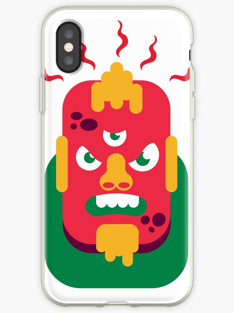 Angry red monster by :Panter Design