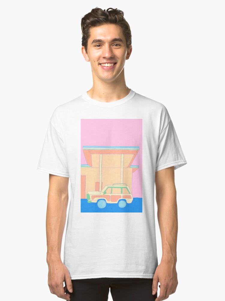 Retro Stationwagon Classic T-Shirt Front