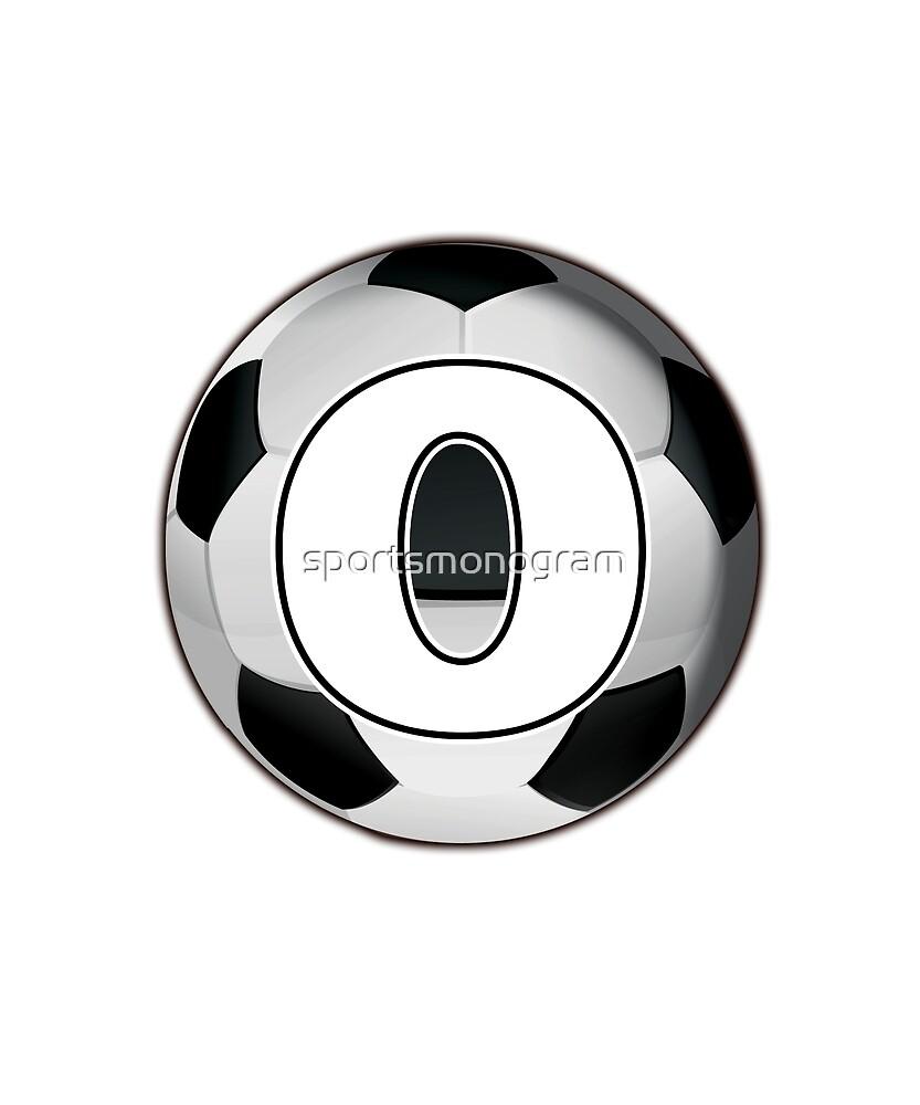 Monogram O Black and White Soccer Ball by sportsmonogram