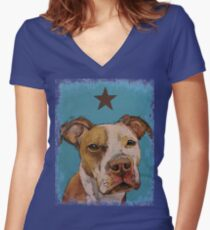 American Pit Bull Women's Fitted V-Neck T-Shirt