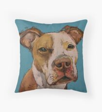 American Pit Bull Throw Pillow