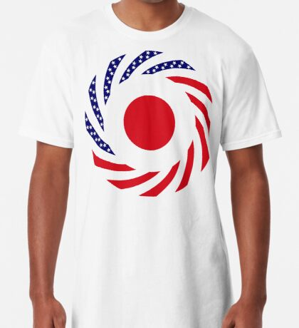 Japanese American Multinational Patriot Flag Series Long T-Shirt