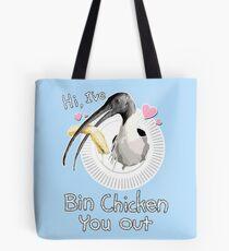 Bin Chicken You Out (blue) Tote Bag