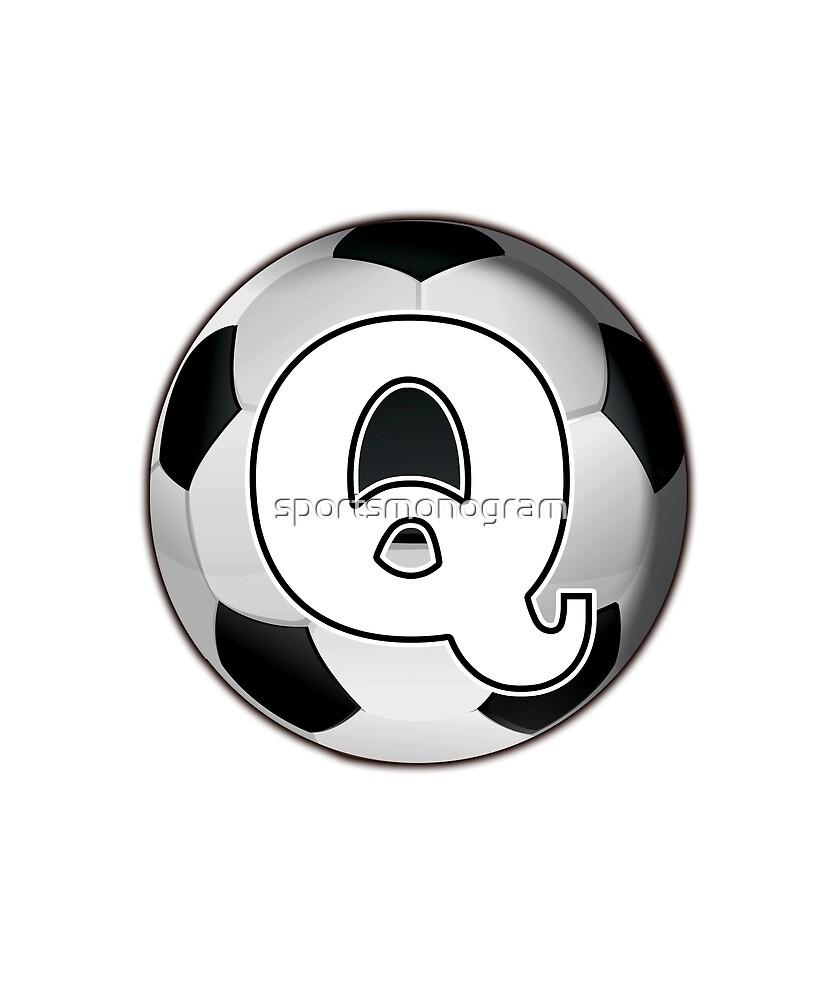 Monogram Q Black and White Soccer Ball by sportsmonogram