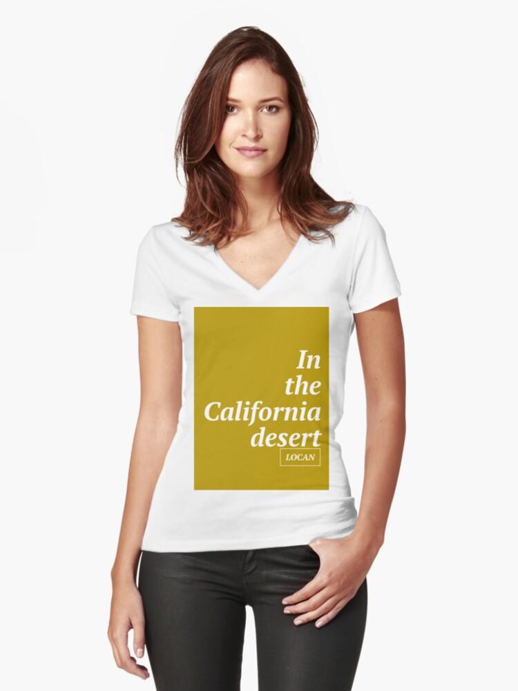 in the California Desert Women's Fitted V-Neck T-Shirt Front