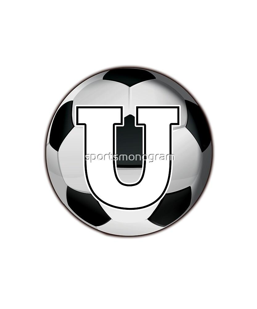 Monogram U Black and White Soccer Ball by sportsmonogram