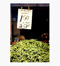 Stringless Beans Photographic Print