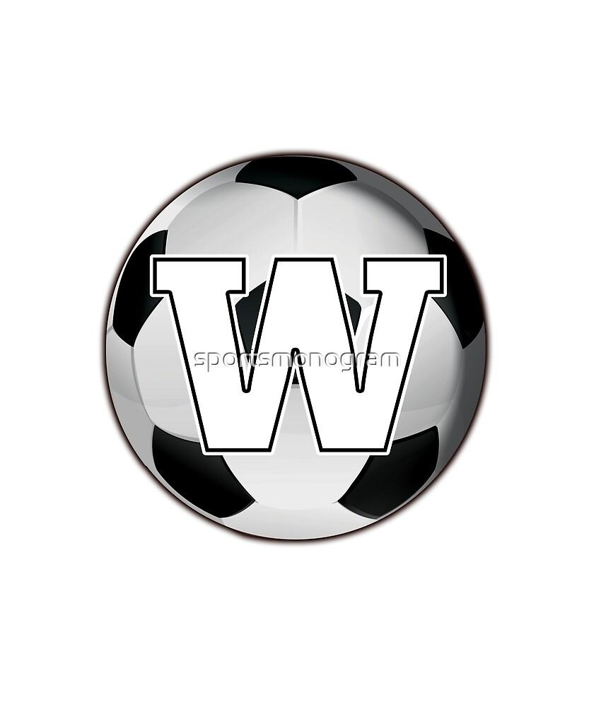 Monogram W Black and White Soccer Ball by sportsmonogram