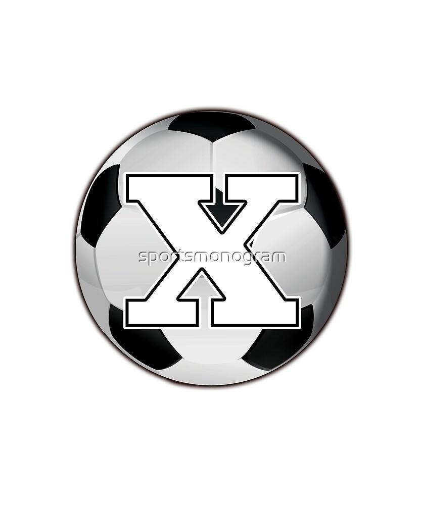 Monogram X Black and White Soccer Ball by sportsmonogram