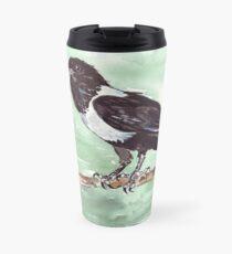 Domino, the Pied Crow (Corvus albus) Travel Mug